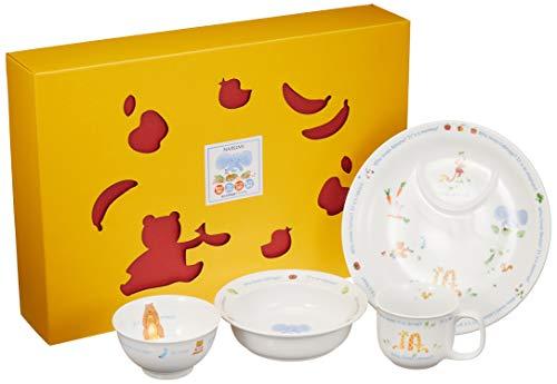 NARUMI(ナルミ) 子ども用 食器セット みんなでたべよっ!  4点セット 電子レンジ対応 日本製 40433-33139