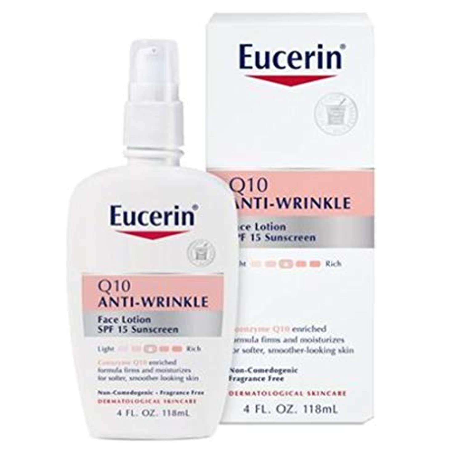 素子草ローマ人Eucerin Sensitive Facial Skin Q10 Anti-Wrinkle Sensitive Skin Lotion SPF#15 120 ml (並行輸入品)