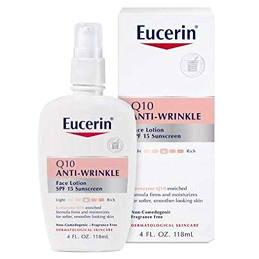 争い屋内妥協Eucerin Sensitive Facial Skin Q10 Anti-Wrinkle Sensitive Skin Lotion SPF#15 120 ml (並行輸入品)