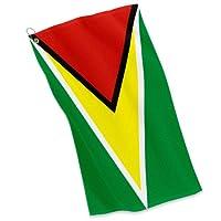 ゴルフ/スポーツタオル–ガイアナの国旗–Guyanese