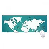 世界地図の大陸分布のシルエット ノンスリップゴムパッドのゲームマウスパッドプレゼント