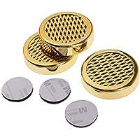 F Fityle Smoking Cigar Humidor Humidifier Long Term Humidity Cigars Humidifier Box & 3 Pieces Tape - Golden