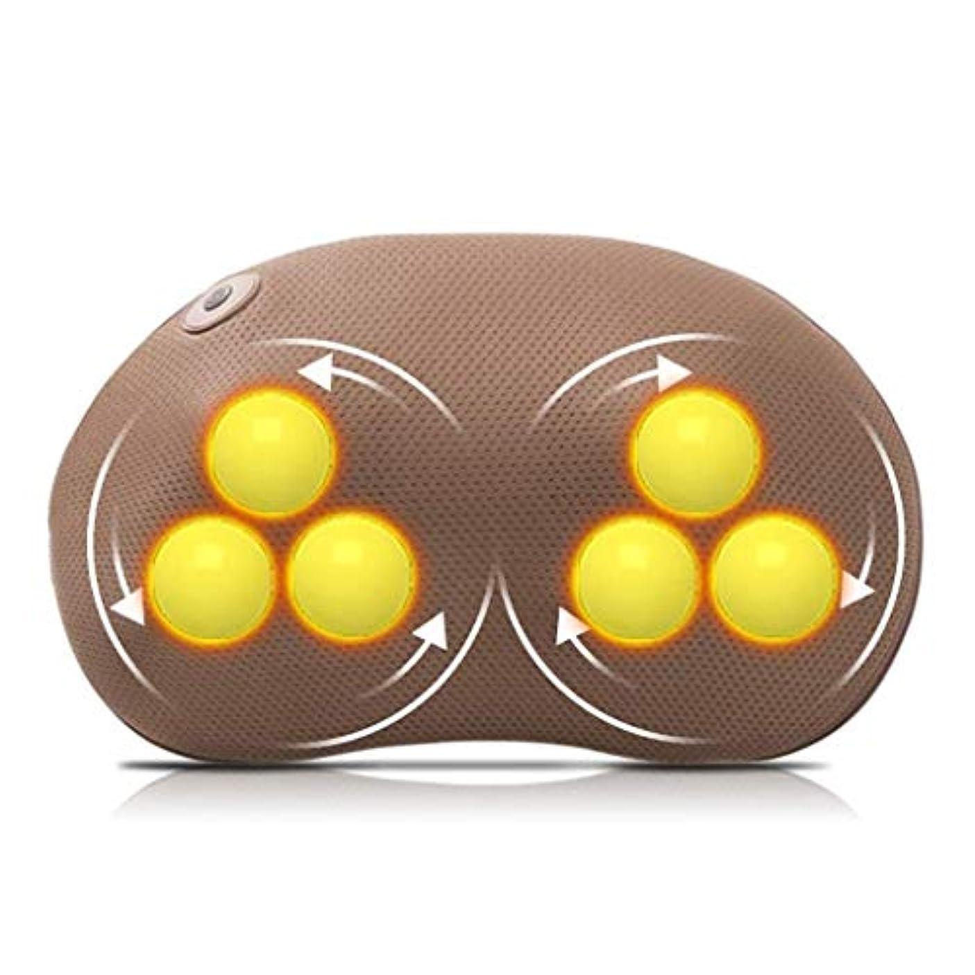 出来事シャックル振り子ネックマッサージャー、フィンガープレスネックとバックマッサージピロー、加熱/振動/調整可能な速度/ポータブルKみマッサージ、ストレス緩和/痛み