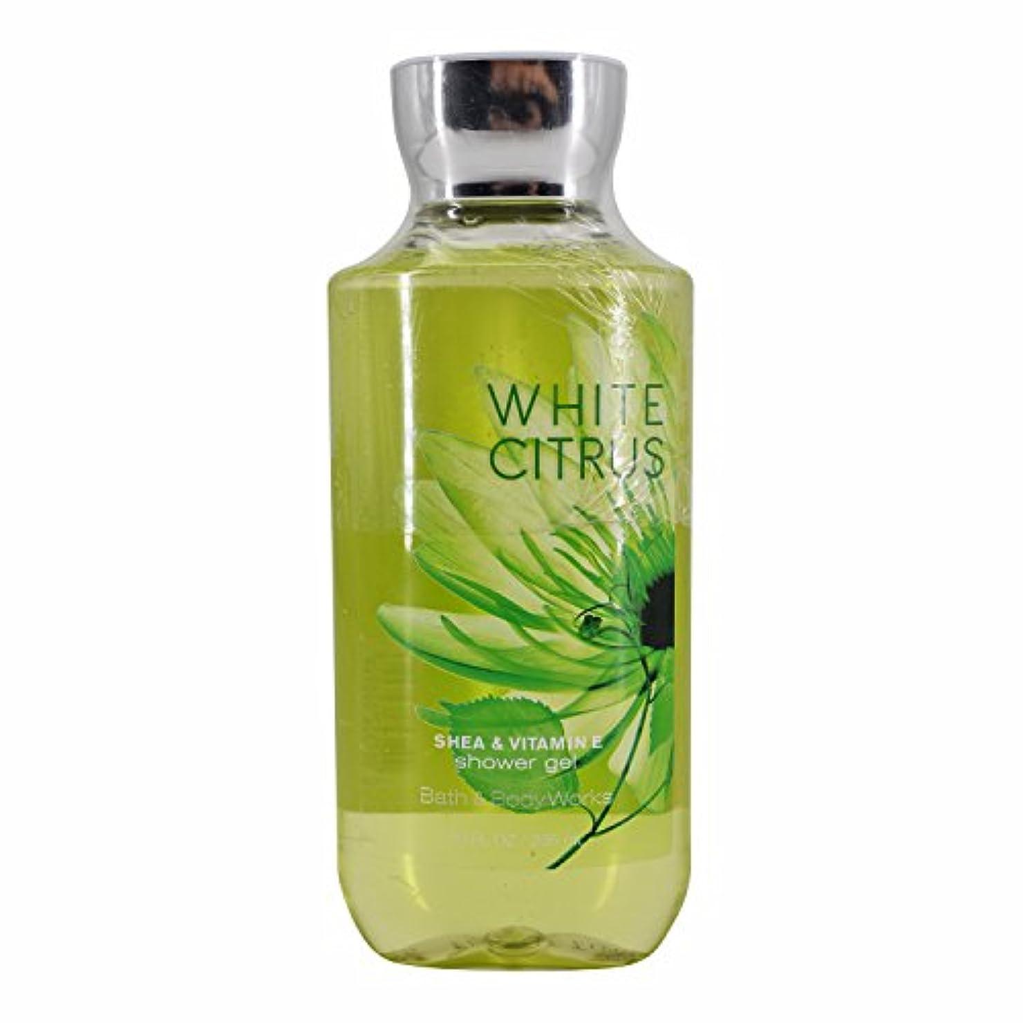 先に蛾列車バス&ボディワークス ホワイトシトラス シャワージェル White Citrus Shea & Vitamin-E Shower Gel