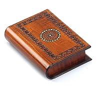 Book Style Wood Puzzle Box Polish Handmade Secret Trick Wooden Box Jewelry Box by PolishArt