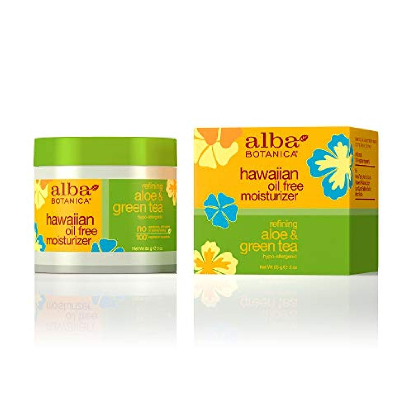ポルトガル語成果過激派Alba Botanica, Aloe & Green Tea Oil-Free Moisturizer, 3 oz (85 g)