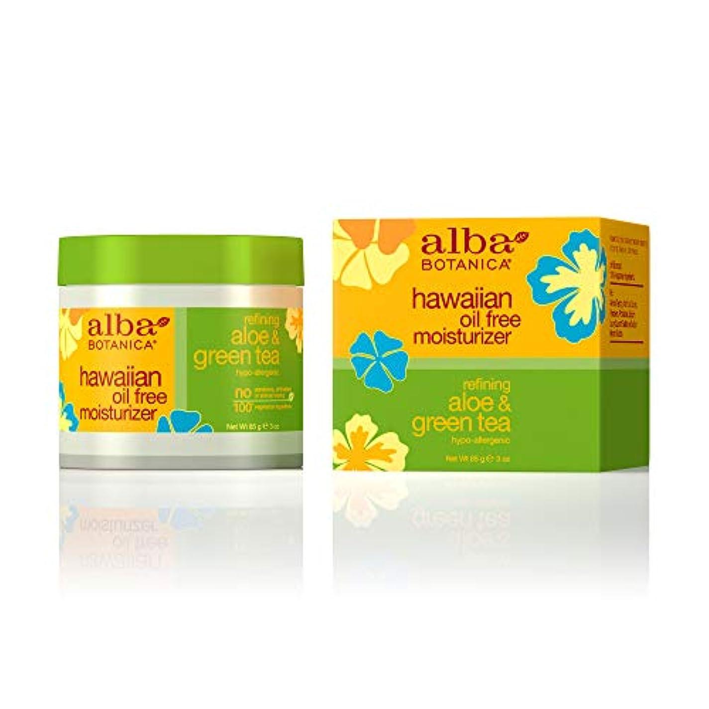 ポーチマリングリルAlba Botanica, Aloe & Green Tea Oil-Free Moisturizer, 3 oz (85 g)
