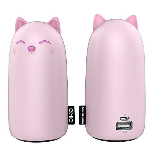 coofo 可愛い猫 モバイルバッテリー 10000mAh 大容量 スマホ充電器 携帯用の充電器 iPhone/iPad/GALAXY/Sony等スマートフォン対応- 急速充電 (ピンク)