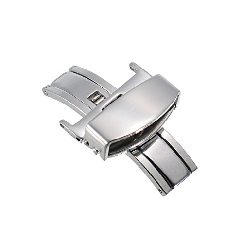 [해외]시계 가죽 벨트 접이식 버클 실버 22mm/Foldable buckle for watch leather belts Silver 22 mm