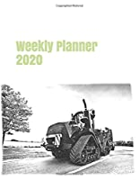 "Weekly Planner 2020: calendar organizer agenda for tractor enthusiasts. 8.5""x11"". 120 pages. (farm machinery)"