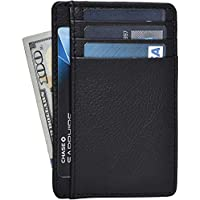 Clifton Heritage Leather Wallets for Women - RFID Blocking Ultra Slim Minimalist Front Pocket Wallet