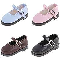 Dovewill  1/4 スケール BJD人形適用 ドール ファッション  PUレザー  靴 4ペア入り