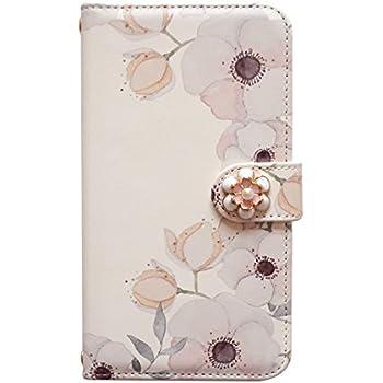 7d15ea9db2 Amazon | iPhone 8 Plus(+) 手帳型 スマホケース パステル 花柄 [カード ...