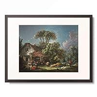 フランソワ・ブーシェ Francois Boucher 「Le matin」 額装アート作品