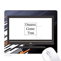 夢の本当のインスピレーションを与える引用来 ノンスリップラバーマウスパッドはコンピュータゲームのオフィス