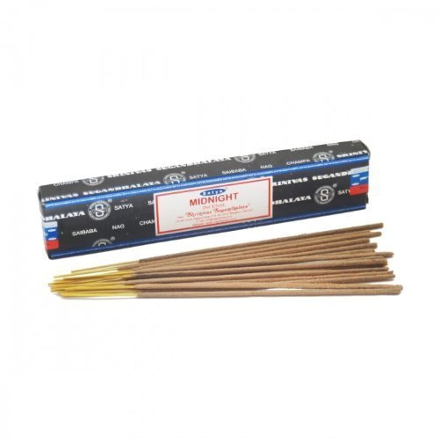胸市場スティーブンソンSatya Satya Sai Baba Midnight Nag Champa Incense Sticks (15 Sticks) by Satya