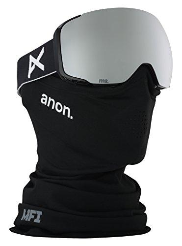 Anon(アノン) スノーボード スキー ゴーグル メンズ M2 Black / SONAR Silver By ZEISS 185581 アジアンフィット 球面レンズ 業界最速レンズ交換 フェイス付