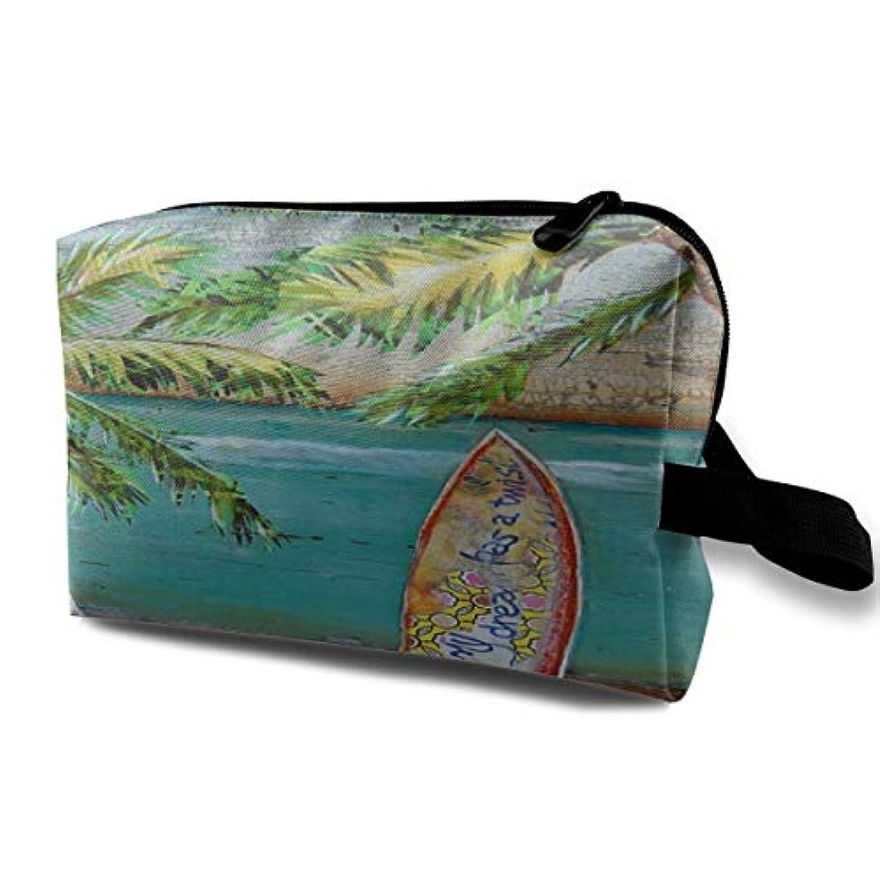 コーヒーハイキング警報Beach Collage Surf Art 収納ポーチ 化粧ポーチ 大容量 軽量 耐久性 ハンドル付持ち運び便利。入れ 自宅?出張?旅行?アウトドア撮影などに対応。メンズ レディース トラベルグッズ