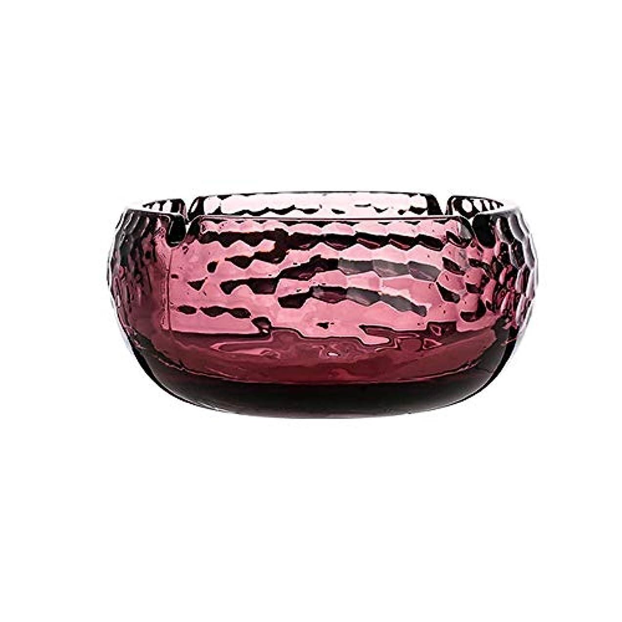 サロン辛なより多い半透明のガラス灰皿繊細な質感の家の寝室のオフィスクリエイティブ人格デスクトップの装飾、簡単にきれいに (色 : 赤)