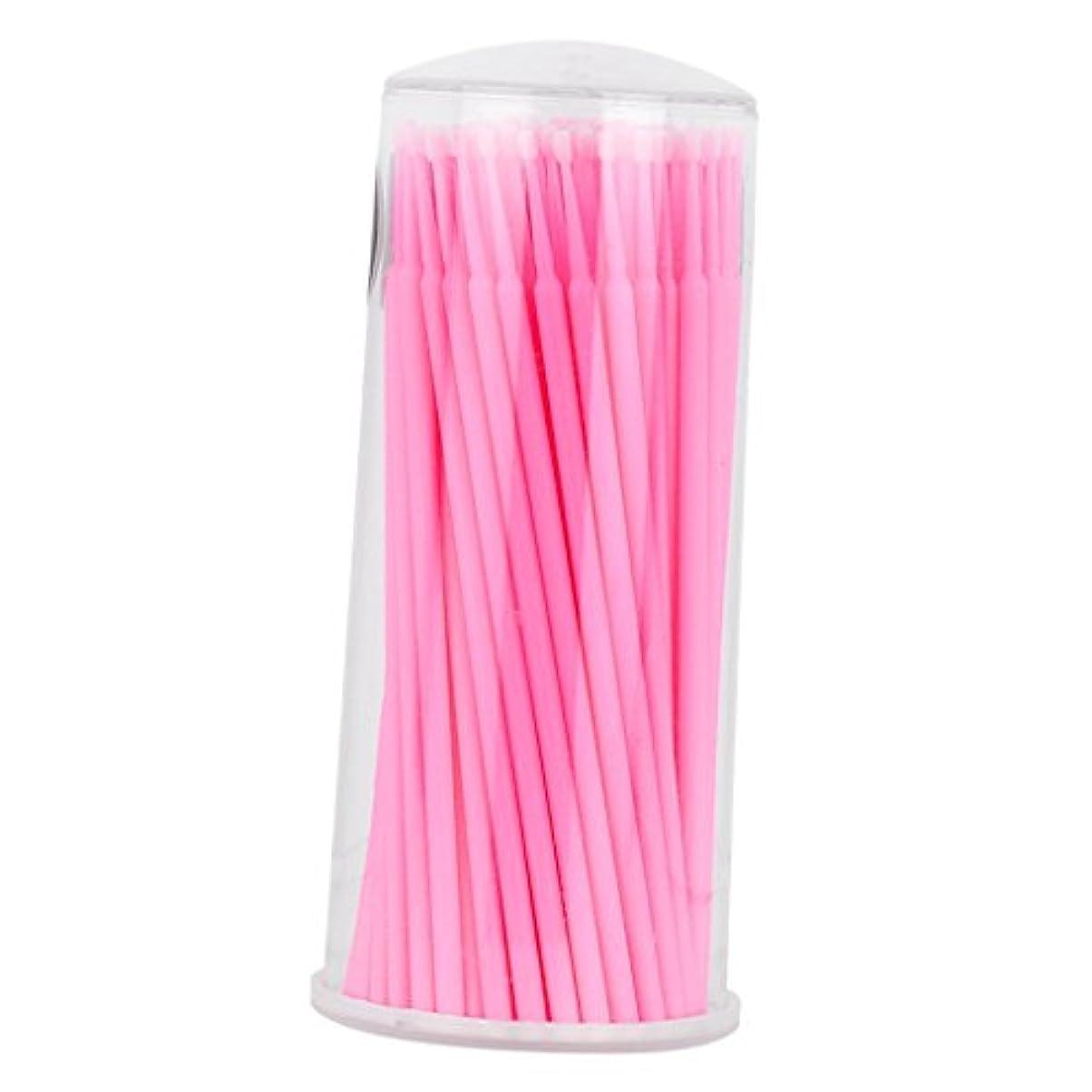 Baosity まつげ 約100個入り マイクロブラシ 化粧道具 使い捨て アプリケータ 全2色選べ  - ピンク
