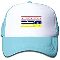 子ども グリッドキャップアメリカ 国旗おしゃれな 軽量 メッシュ帽子 オスとメス 通用