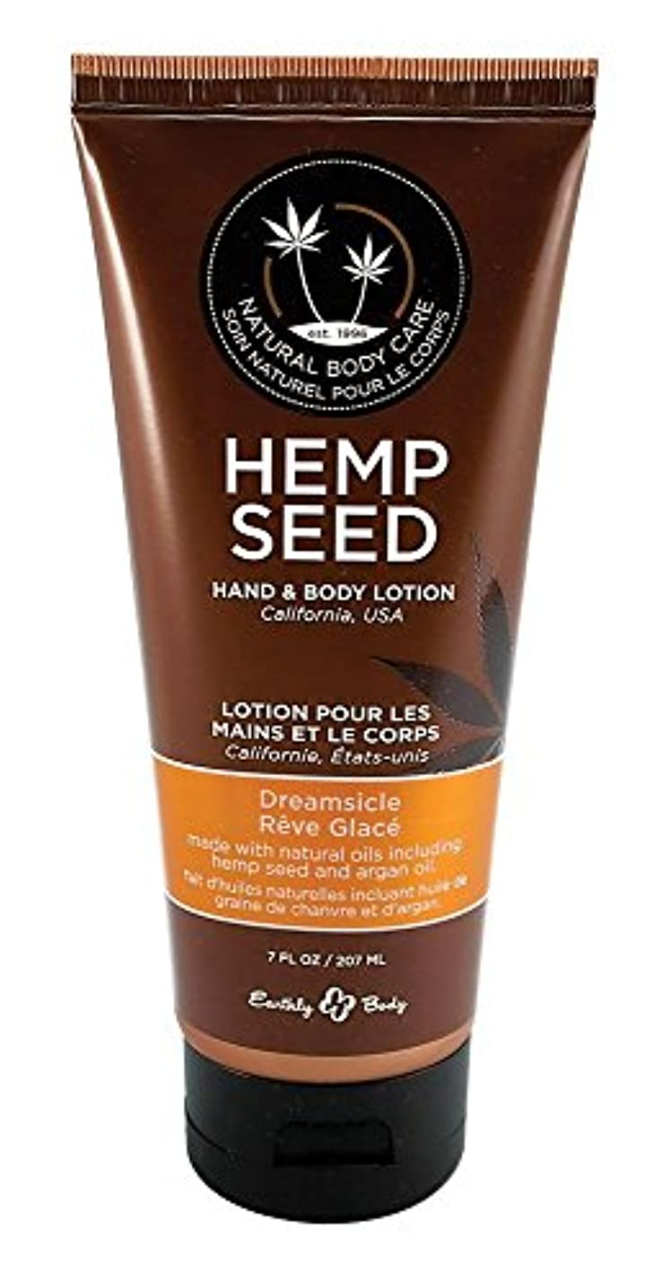 脱走ダイジェストバーベキューEarthly Body Hemp Seed Hand & Body Velvet Lotion 7oz Tube - Assorted Scents (Dreamsicle) [並行輸入品]