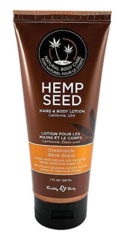 真実略す一般的に言えばEarthly Body Hemp Seed Hand & Body Velvet Lotion 7oz Tube - Assorted Scents (Dreamsicle) [並行輸入品]