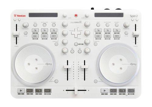 Vestax DJコントローラー Spin2 WHITE ホワイト iPhone/iPad/iPod touch対応 algoriddim djay/vjay対応