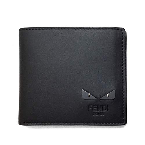 [フェンディ]財布 FENDI 7M0169 6OC F0GXN メンズ BAG BUGS EYE バッグ バグズ アイ 二つ折り財布 黒 ブラック 小銭入れ無し [並行輸入品]