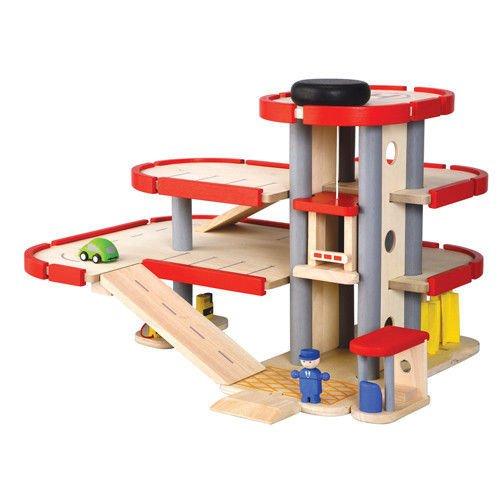 木のおもちゃ パーキングガレージ