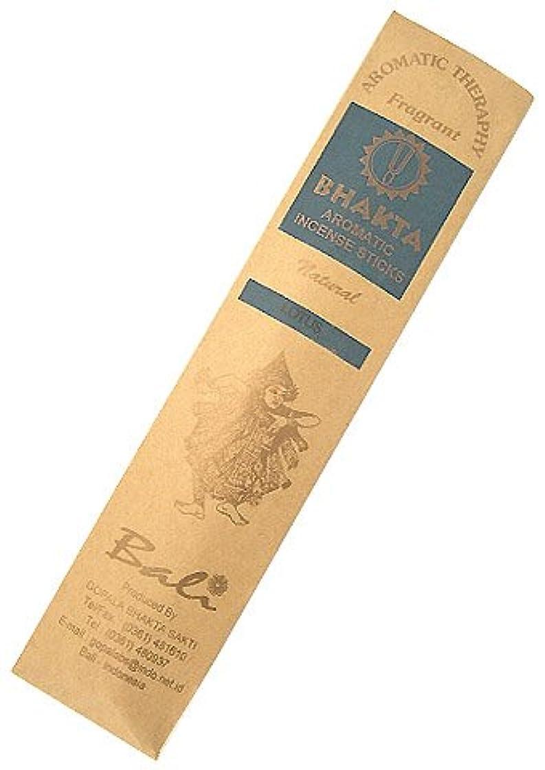 遠い誇張する枕お香 BHAKTA ナチュラル スティック 香(ロータス) 【ロングタイプ インセンス】 インドネシア?バリ島のお香