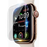 Apple Watch Series 4 44mm 強化ガラスフィルム 二枚入り 液晶保護フィルム 高透過率 硬度9H 指紋防止 飛散防止 超薄0.3mm 2.5D ラウンドエッジ加工