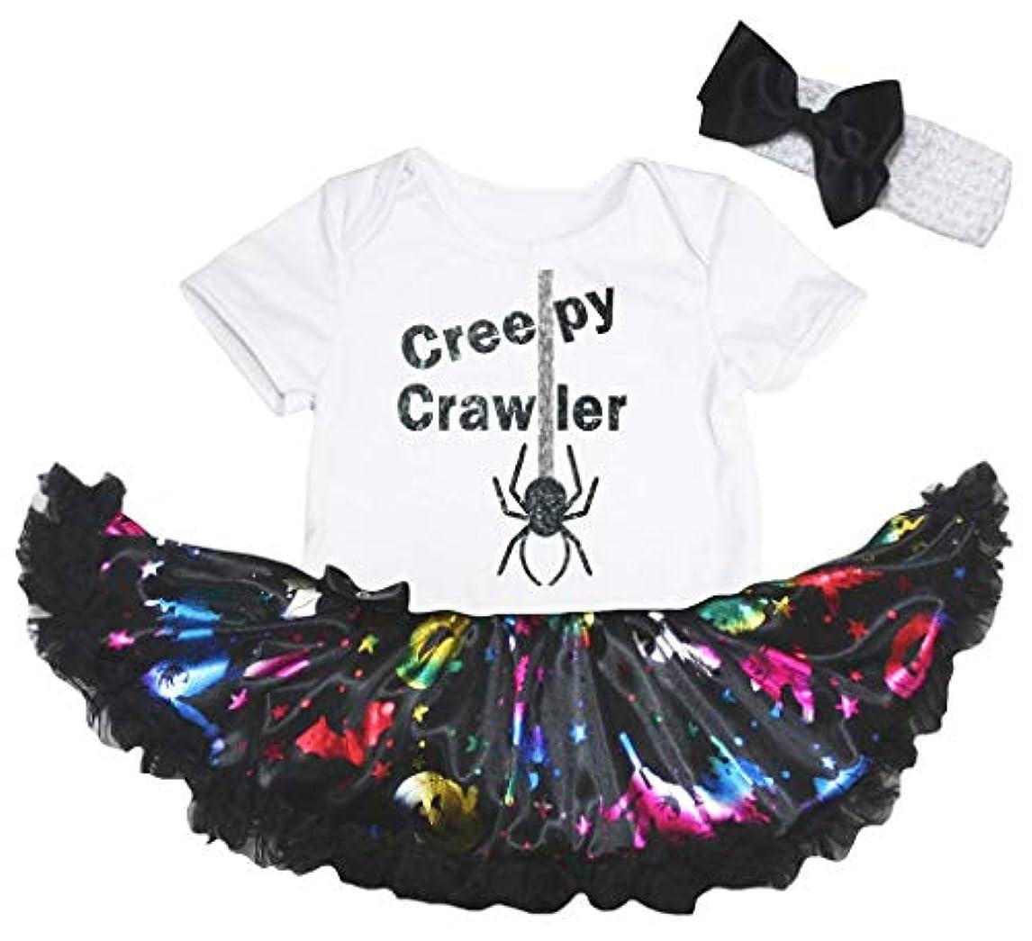 貫通するガイドライン基礎理論[キッズコーナー] ハロウィン Creepy Crawler ホワイト 長袖 パンプキン 子供コスチューム、子供のチュチュ、ベビー服、女の子のワンピースドレス Nb-18m (ホワイト, Small) [並行輸入品]