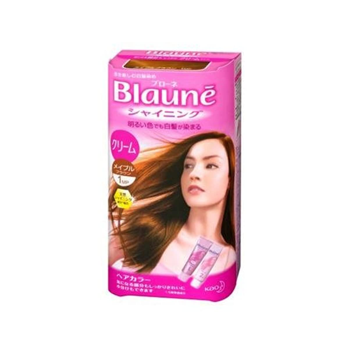 固めるめったに樹木花王 ブローネ シャイニングヘアカラー クリーム 1剤50g/2剤50g(医薬部外品)《各50g》<カラー:メイプルBR>