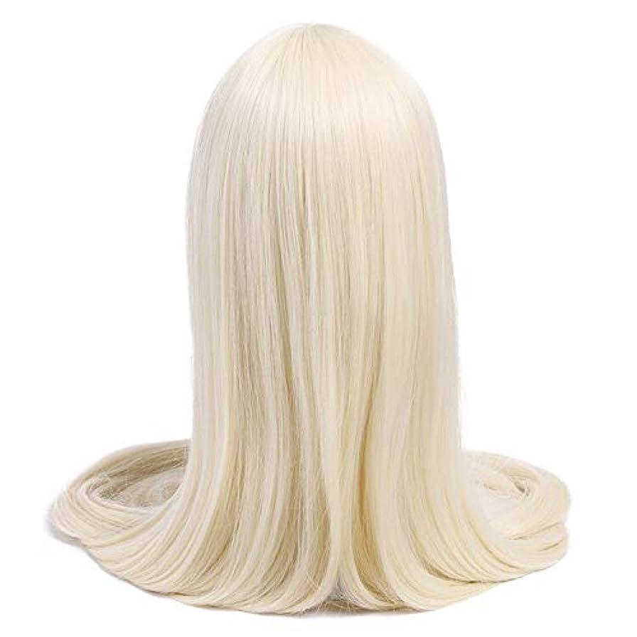 請求書気をつけてセッション女性の好きなウィッグ ウィッグ60inch 150センチメートルロング女性コスプレウィッグ7色ストレートベージュブラックブロンドの人工毛Perucasコスプレウィッグ (Color : Off White, Stretched Length : 60inches)