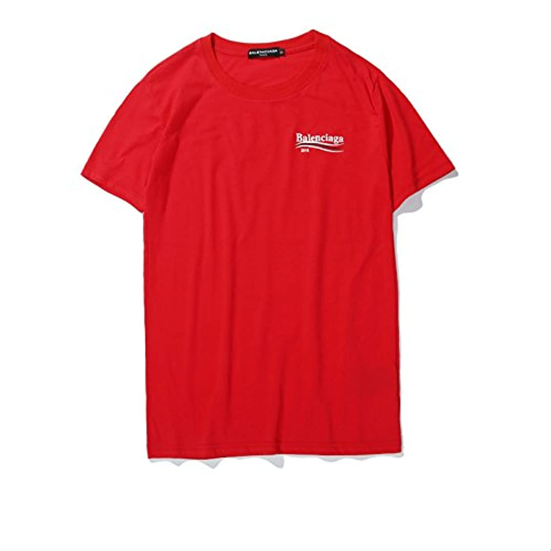 スプリット洋服支払うメンズ半袖Tシャツ コットン アウトドア 男女兼用 4色 A (L, red)