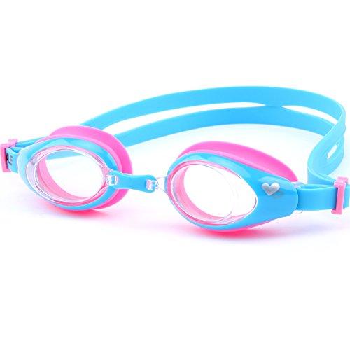 子供用 スイミング ゴーグル 曇り防止 防水 高性能 ベルト調節可 水中メガネ UVカット 4色から選べる 4~13歳対象モデル(omid) (CF-6005)