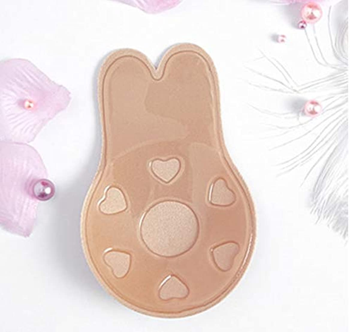 有用恐怖無心Lixiuqun home 3 PCS胸リフトテープはセクシーな下着アクセサリーを再利用可能な乳房乳首カバー見えない接着剤ブラジャーをプッシュアップ(ABサイズ(直径:9cm)) (色 : AB Size (diameter...