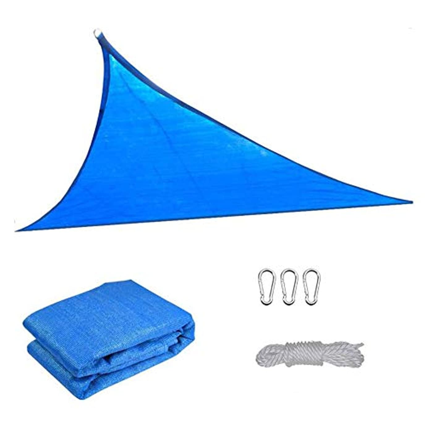 リズミカルな信仰コントローラ防水日よけの帆、防風性の薄い95%遮光率、UVブロックPEパティオ屋外バーベキューエリア長方形ガーデンオーニング(巾着とフックを含む),Blue,4X4X4m