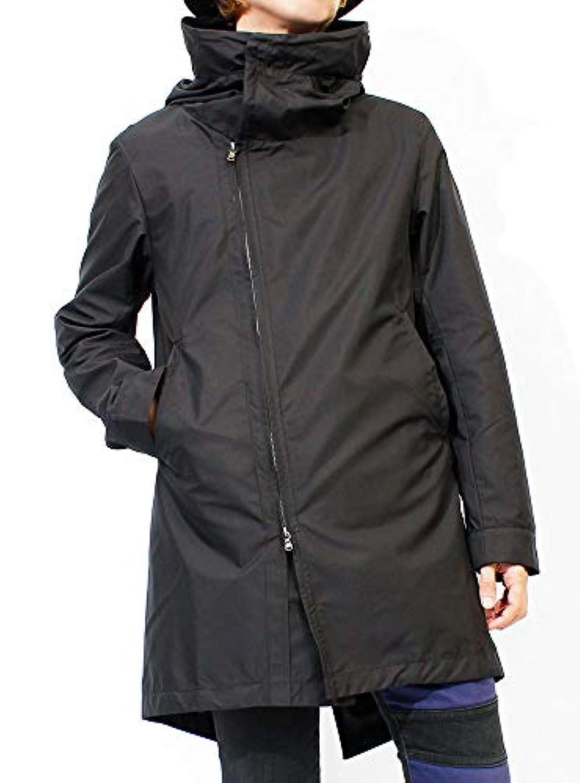 モッズコート メンズ フード付き ボリュームネック スタンド ハイネック デザイナーズ コート 日本産 国産 F ブラック