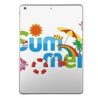 第5世代 iPad iPad5 2017年モデル スキンシール apple アップル アイパッド A1822 A1823 タブレット tablet シール ステッカー ケース 保護シール 背面 人気 単品 おしゃれ 夏 ハイビスカス 海 014118