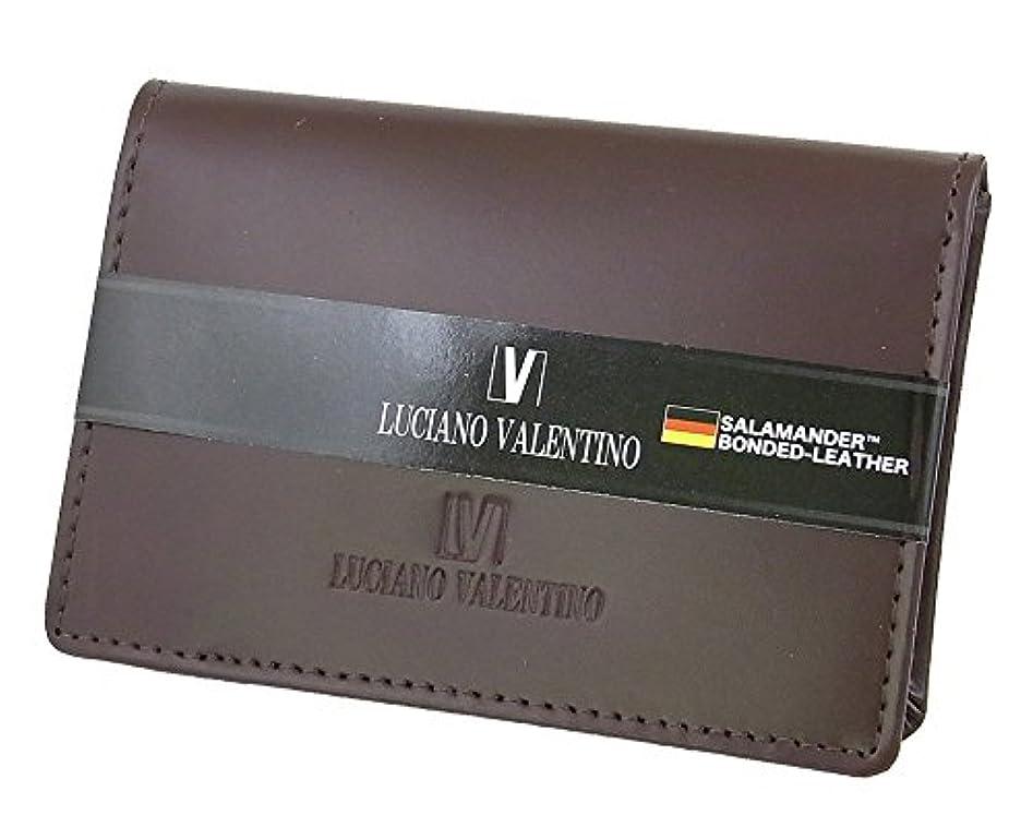 まだら意味重大ルチアーノ バレンチノ LUCIANO VALENTINO パスケース 定期入れ メンズ LUV-7007-BR ブラウン 財布?小物 カードケース mirai1-534333-ah [並行輸入品] [簡素パッケージ品]