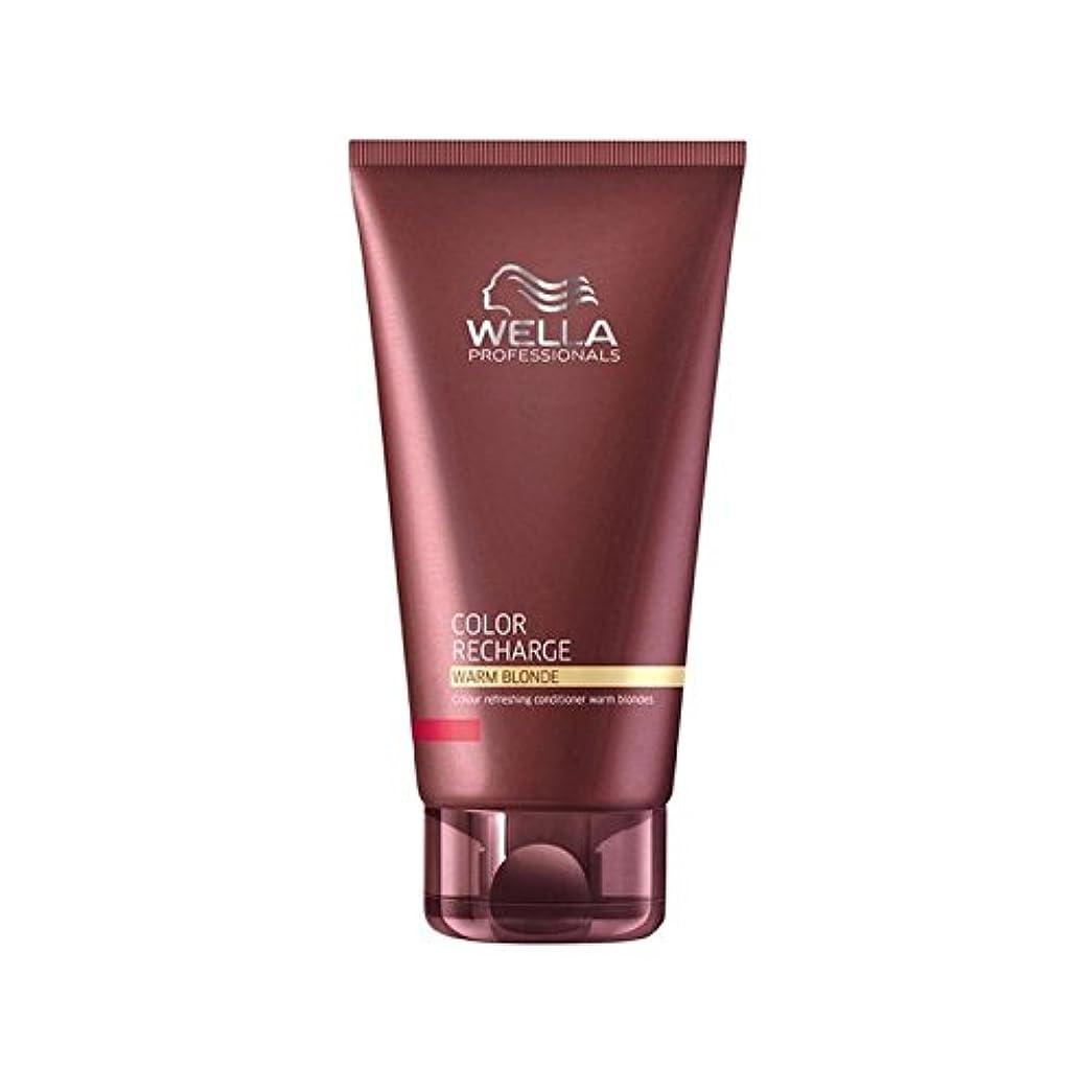 物理的に化石署名Wella Professionals Color Recharge Conditioner Warm Blonde (200ml) (Pack of 6) - ウエラ専門家のカラー再充電コンディショナー暖かいブロンド(...