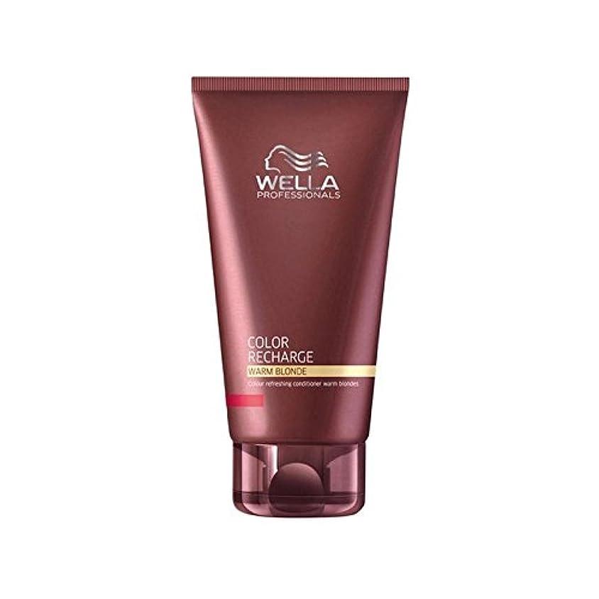 風景やがてブラウザウエラ専門家のカラー再充電コンディショナー暖かいブロンド(200ミリリットル) x4 - Wella Professionals Color Recharge Conditioner Warm Blonde (200ml...