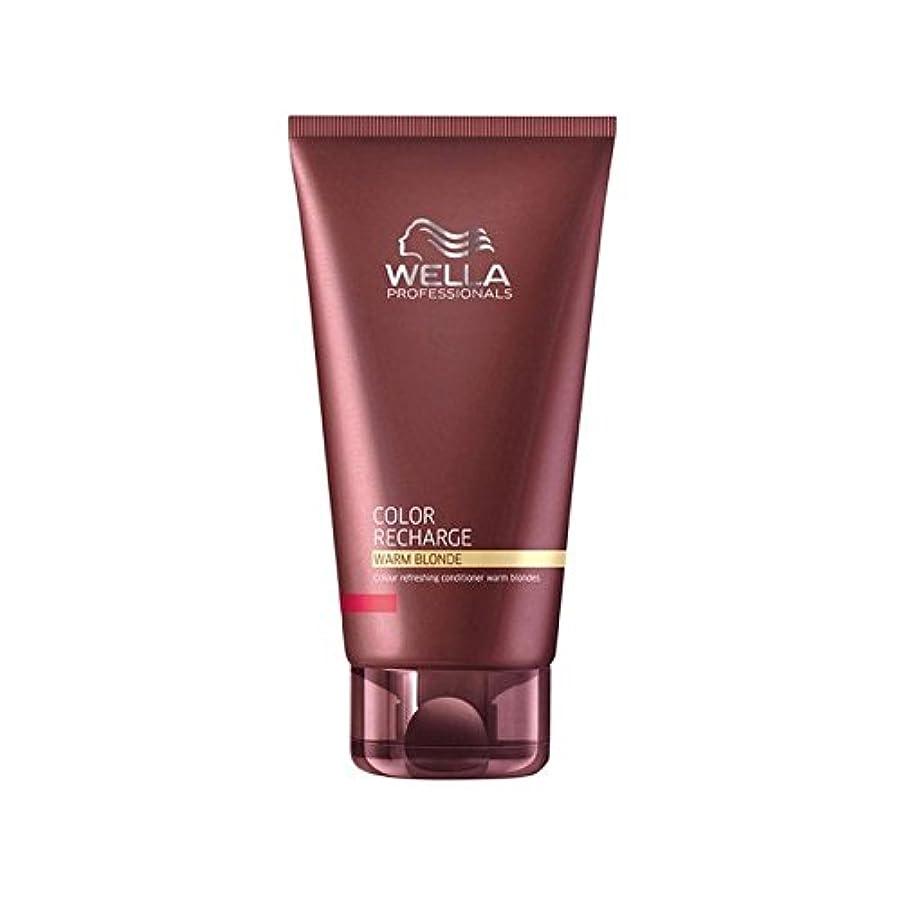 増幅器寄付にぎやかウエラ専門家のカラー再充電コンディショナー暖かいブロンド(200ミリリットル) x4 - Wella Professionals Color Recharge Conditioner Warm Blonde (200ml...