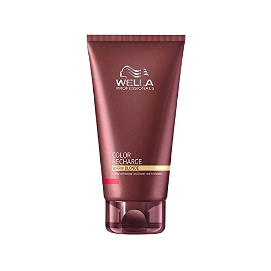 ヘルパー発音する公平ウエラ専門家のカラー再充電コンディショナー暖かいブロンド(200ミリリットル) x2 - Wella Professionals Color Recharge Conditioner Warm Blonde (200ml...