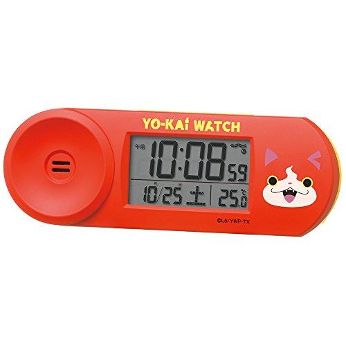 セイコークロック 置き時計 06:ジバニャン(赤) 本体サイズ:5.1×14.4×4.2cm 目覚ま...