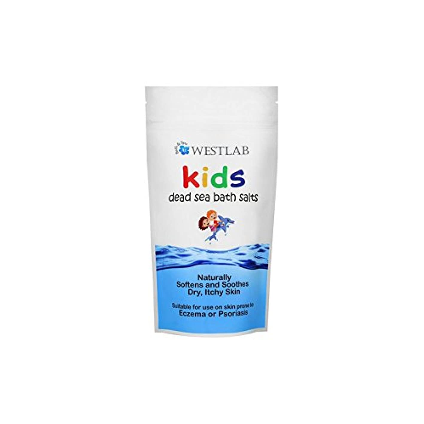 収容するコンデンサー細心の子供死海の塩 x4 - Westlab Kids Dead Sea Salt (Pack of 4) [並行輸入品]