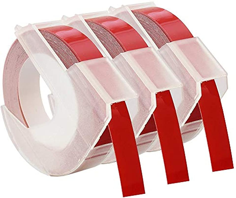安定旧正月軍隊汎用代替ラベルテープ対応DYMOラベラーテープ、光沢のあるビニールエンボステープ3/8