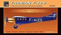 SBSモデル 1/72スケール Farman F.190 エアフランス - 樹脂製航空機キット - 7008